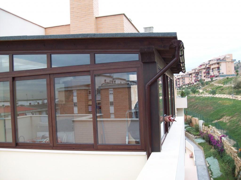 Cerramientos de terrazas cristaler a y aluminios moscatel - Cerramientos de terrazas de aticos ...