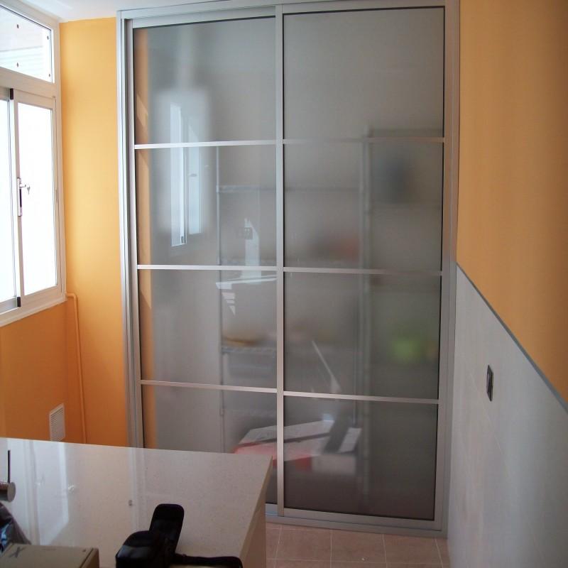 Frentes de armarios cristaler a y aluminios moscatel - Frentes de armarios ...